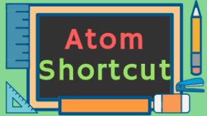 Atom ショートカットmenu